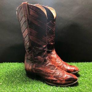 Tony Lama Leather Cowboy Western Boots 9 D 0508